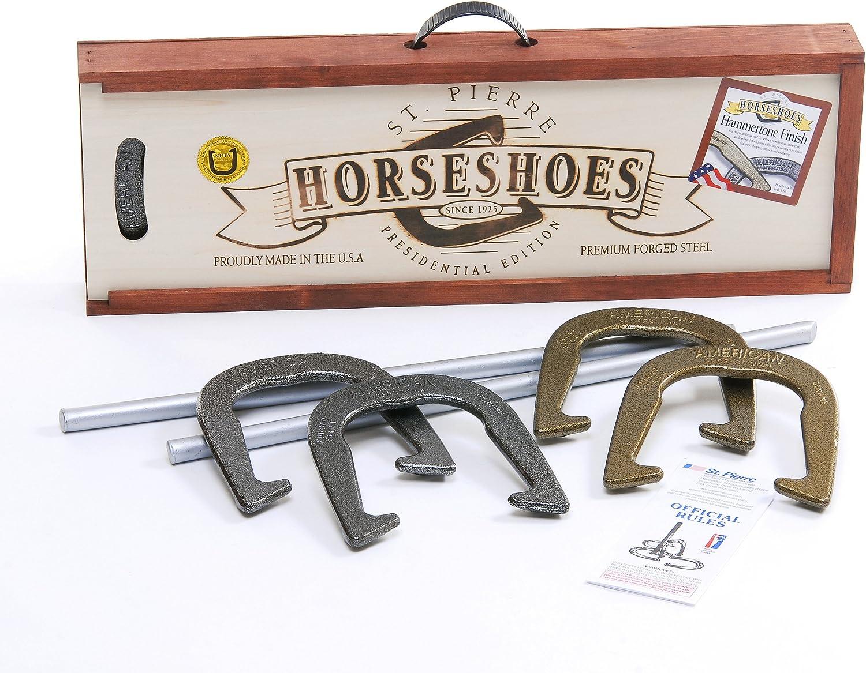 B0000ASN01 St. Pierre American Professional Horseshoe Set in Wood Case 91p5i9P0y7L.SL1500_