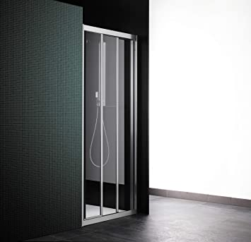 Cabina de ducha con puerta corredera, 3 puertas, 91 cm, cristal ...
