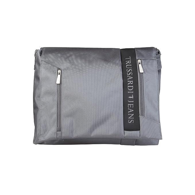 Trussardi Jeans by Trussardi Borsa Portadocumenti 71B962T Grigio   Amazon.it  Scarpe e borse 3ac3538d58f