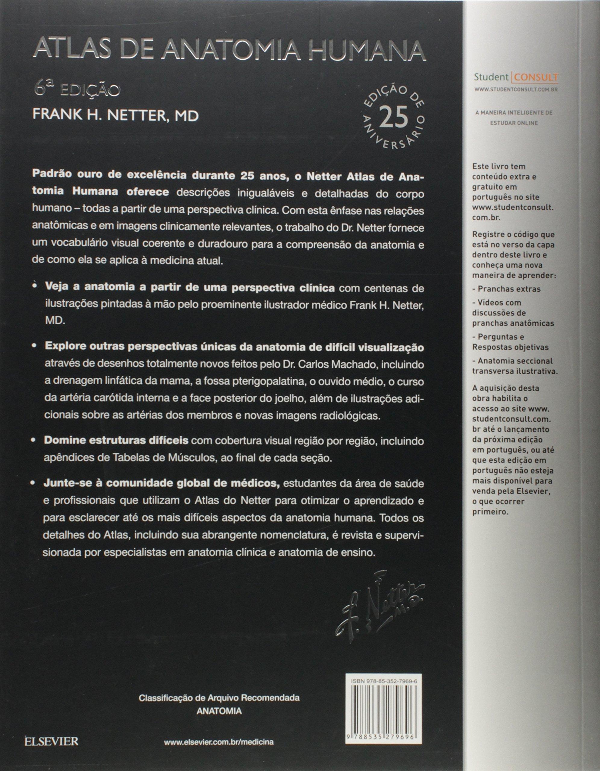 Netter. Atlas de Anatomia Humana 6ª Edição (Em Portuguese do Brasil ...