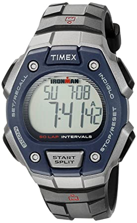 Amazon.com: Timex Ironman Classic 50-Lap Full-Size Watch - Gray/Black/Yellow (56634): Watches