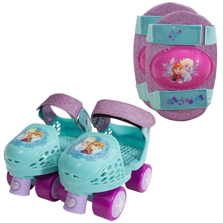 Playwheels Disney Frozen Glitter Roller Skates With Knee Queen High Heels Gliter Een14 Pads Junior Size 6 12 Toys Games
