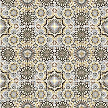 FL15680 Wandfliese f/ür Bad /& K/üchenr/ückwand Marokkanische Keramik-Fliesen Kasbah 20 x 20 cm mehrfarbig orientalische Mosaikfliesen Sch/öne K/üche Flur /& Badezimmer