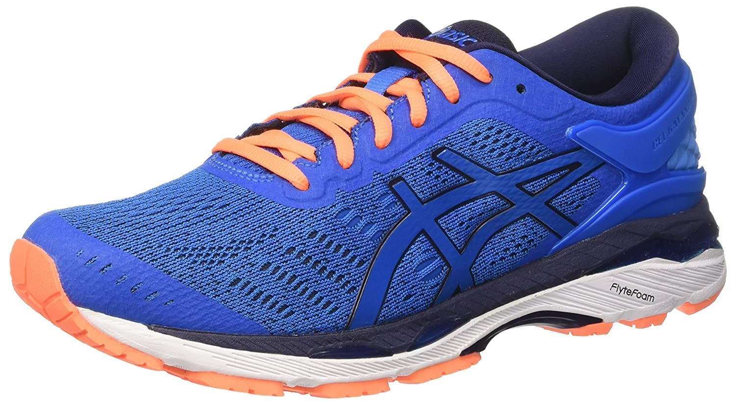 Asics Gel-Kayano 24, Zapatillas de Running Hombre, 45 EU|Azul (Directoire Blue / Peacoat / Hot Orange)