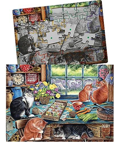 Amazon.com: Caseta de jardín gatos secuenciales de 35 piezas ...