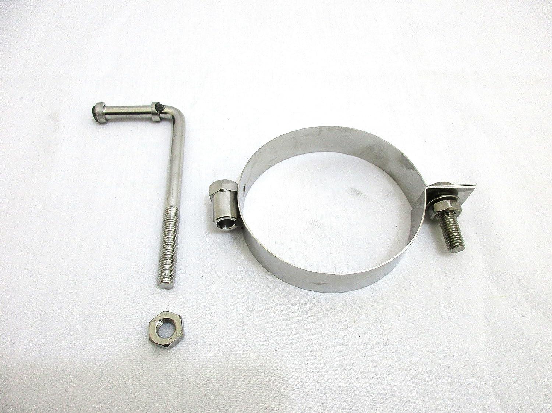 4 Universal Round Exhaust Silencer Bracket Hanger Band 101mm