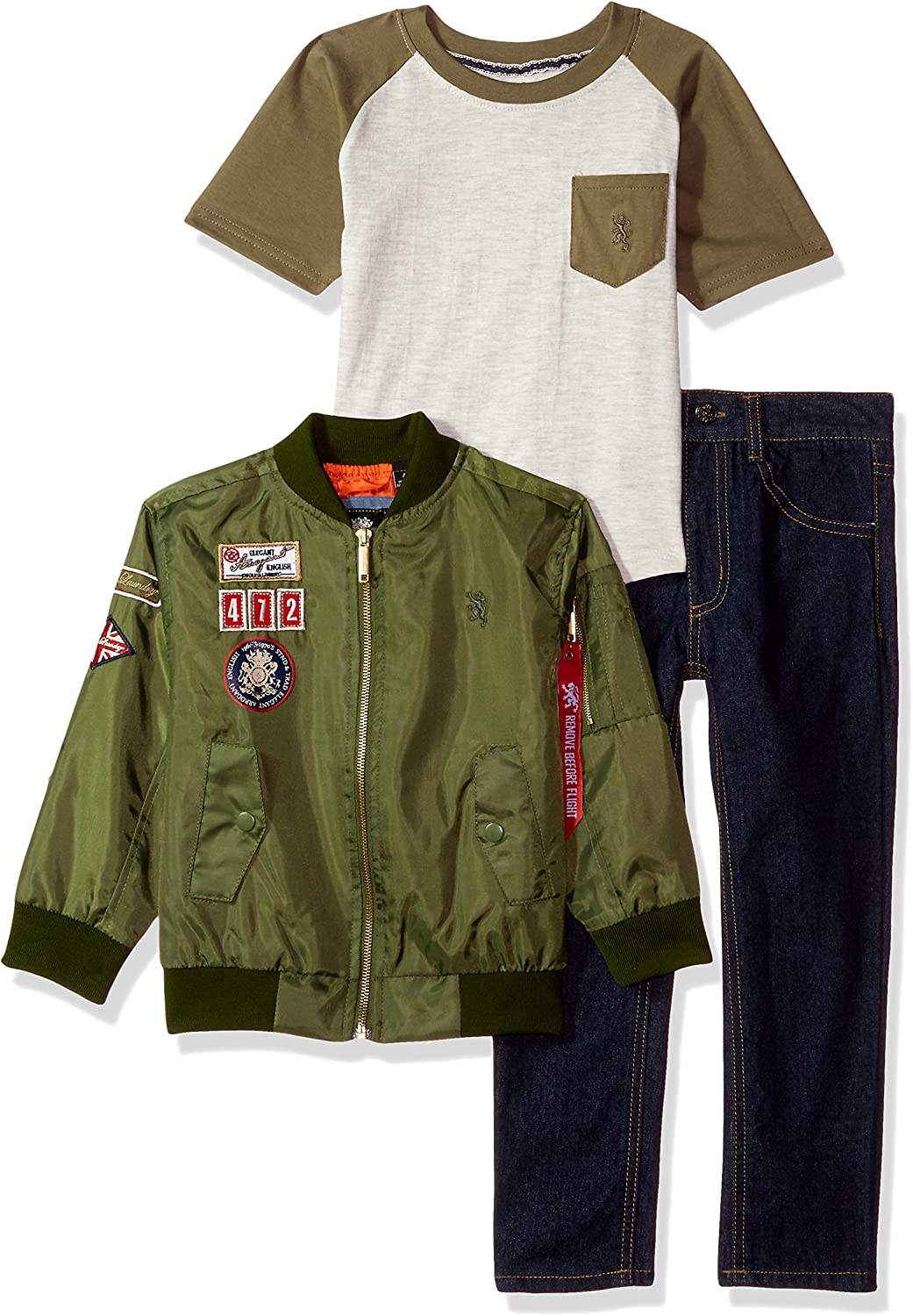 English Laundry Boys' Jacket, T-Shirt and Pant Set (More Styles Available)