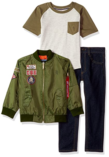 d51a3b4bb61 English Laundry Boys Jacket, T-Shirt and Pant Set (More Styles Available)  Pants Set: Amazon.ca: Clothing & Accessories