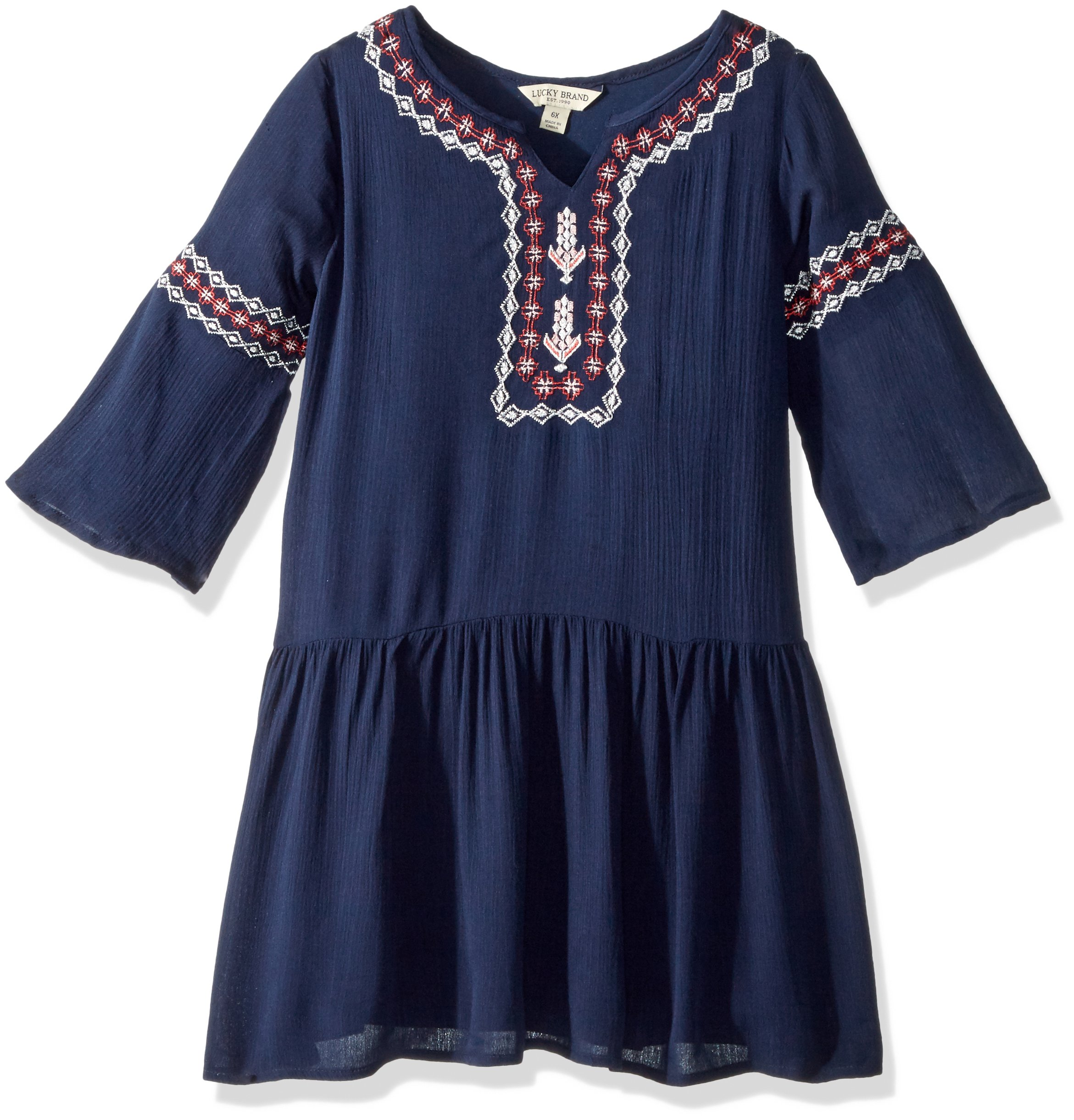Lucky Brand Little Girls' Ellie Dress, Ellie Black Iris, 6X