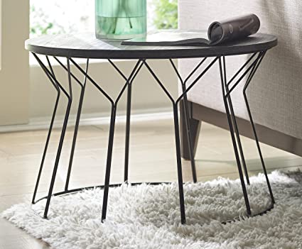 Pleasant Amazon Com Elle Decor Fleur Coffee Table Noir Black Interior Design Ideas Gentotryabchikinfo