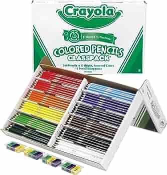 Brand New Crayola 67-6100 Coloured Pencils 100 Count Pencil Crayons