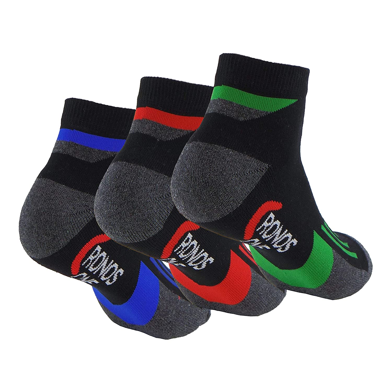 Calcetines (3 Pares) de CICLISMO, RUNNING, TENIS, PADEL, ... Calcetines tobilleros de deporte. Anti-rozaduras y con gomas anti-presión. Calcetines SIN ...