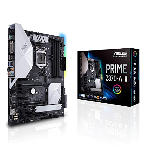 ASUS Prime Z370 A II LGA1151 Intel 8th and 9th Gen ATX DDR4 DP HDMI DVI M 2 USB 3 1 Gigabit LAN