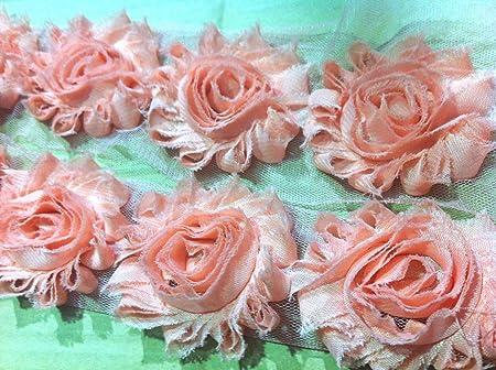 Shabby Chic Pink Rosette Trim