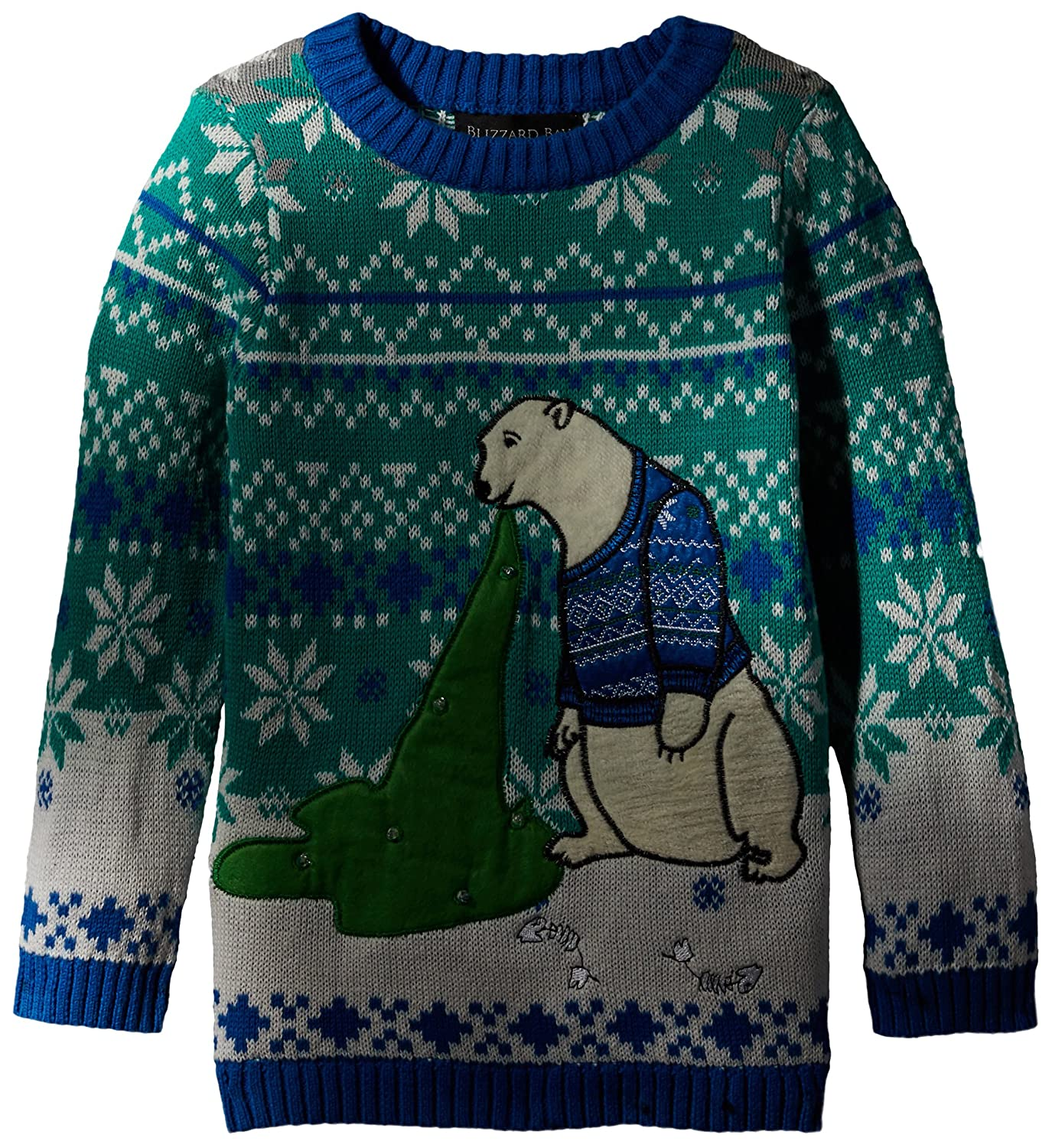 Blizzard Bay Little Boys' Polar Bear Light Up Vomit Xmas Sweater Blizzard Bay Boys 8-20 27494X