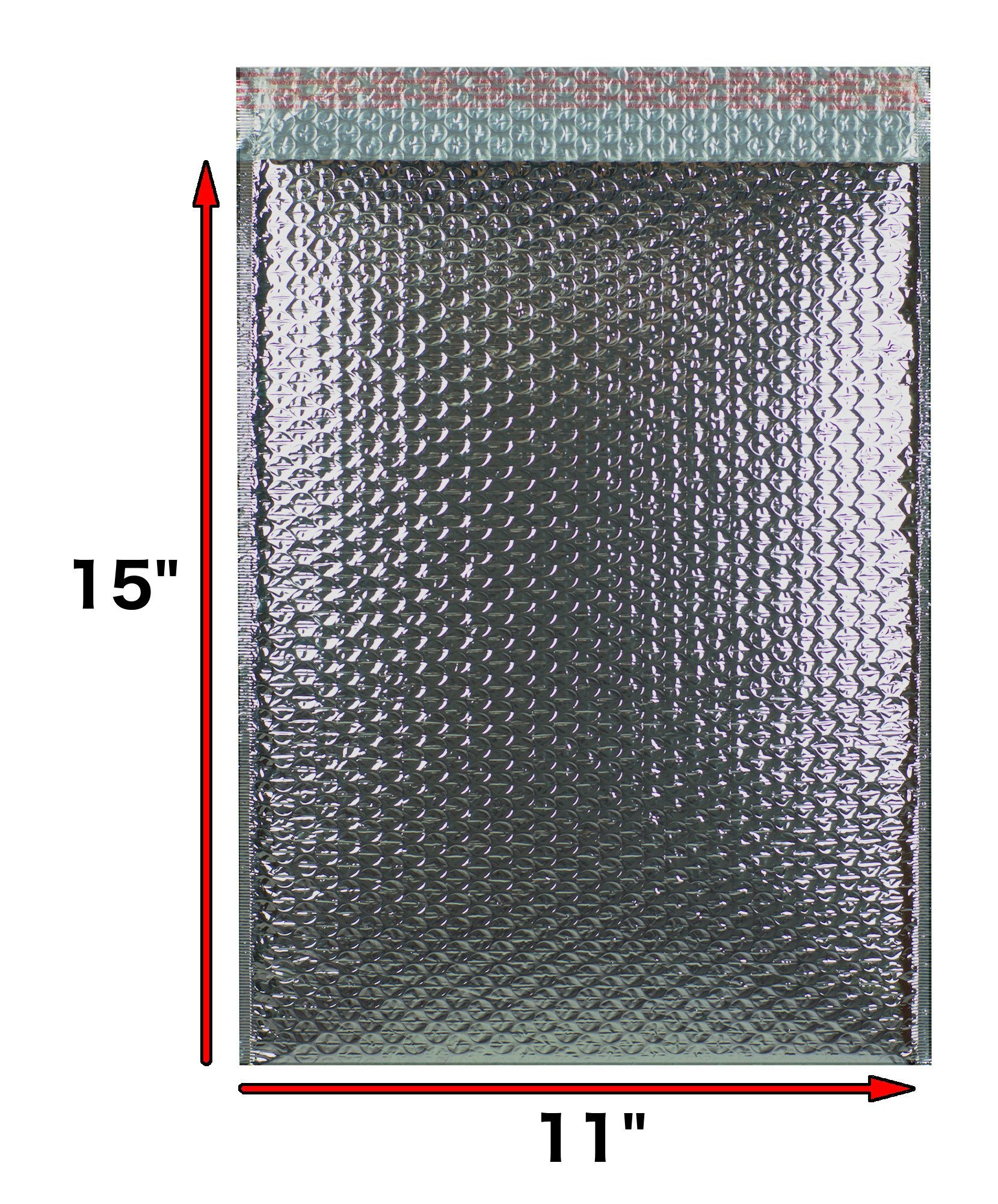 Thermal Insulated Bubble Mailers 11x15 Food Grade Padded envelopes 11 x 15 by Amiff. Pack of 10 Silver Cushion envelopes. Peel and Seal. Metallic foil. Mailing, Shipping, Packing, Packaging.