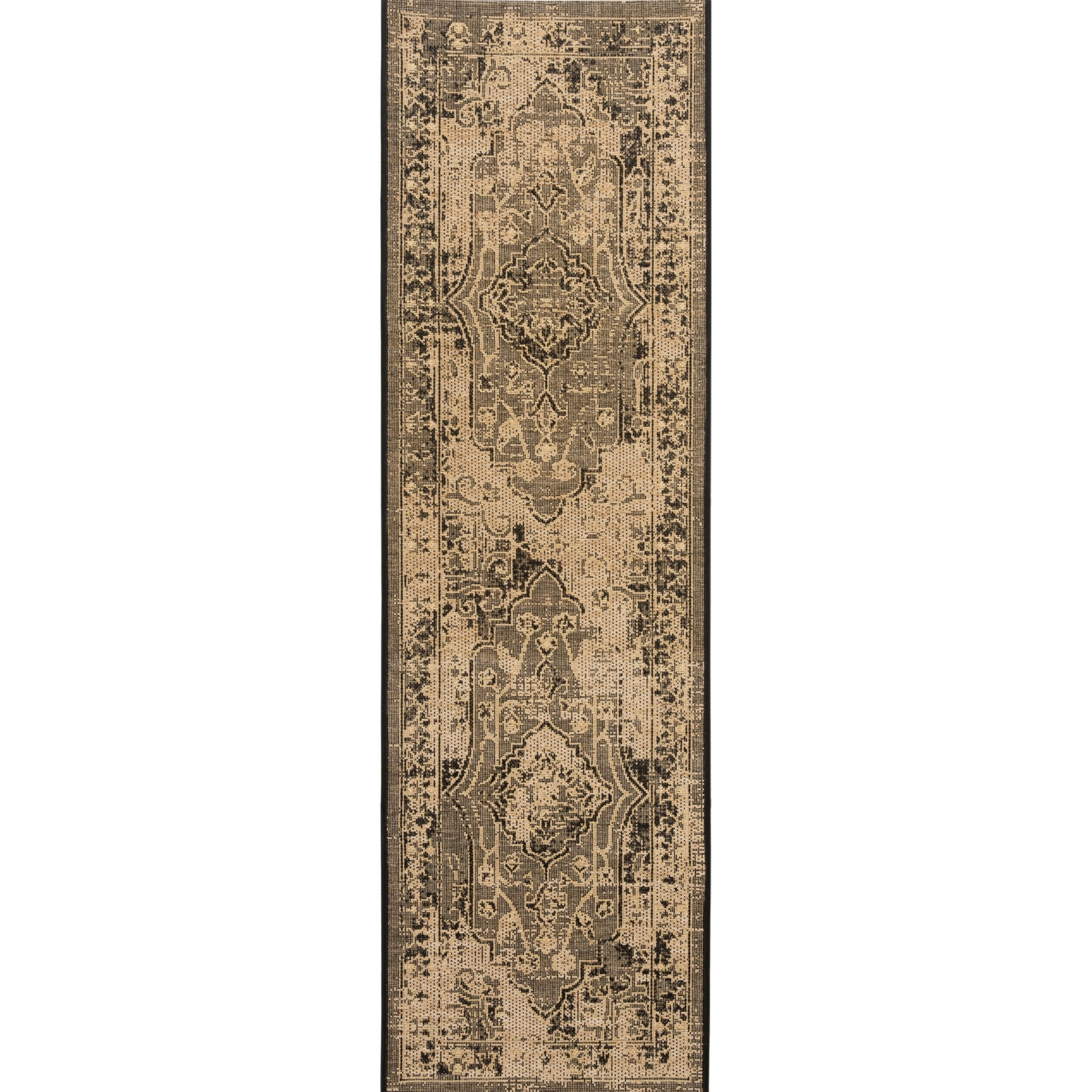 Safavieh Palazzo Collection PAL128-16211 Light Grey and Grey Runner (2' x 7'3'') by Safavieh (Image #1)