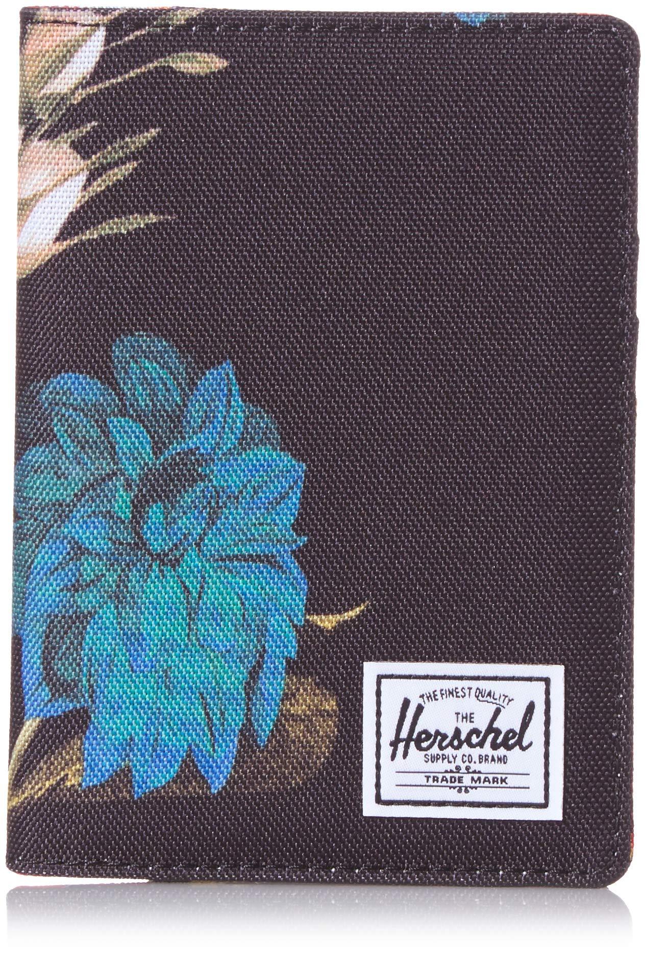 Herschel Men's Raynor Passport Holder RFID, Vintage Floral Black, One Size by Herschel