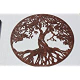 Tree of Life Sign Metal Wall Art