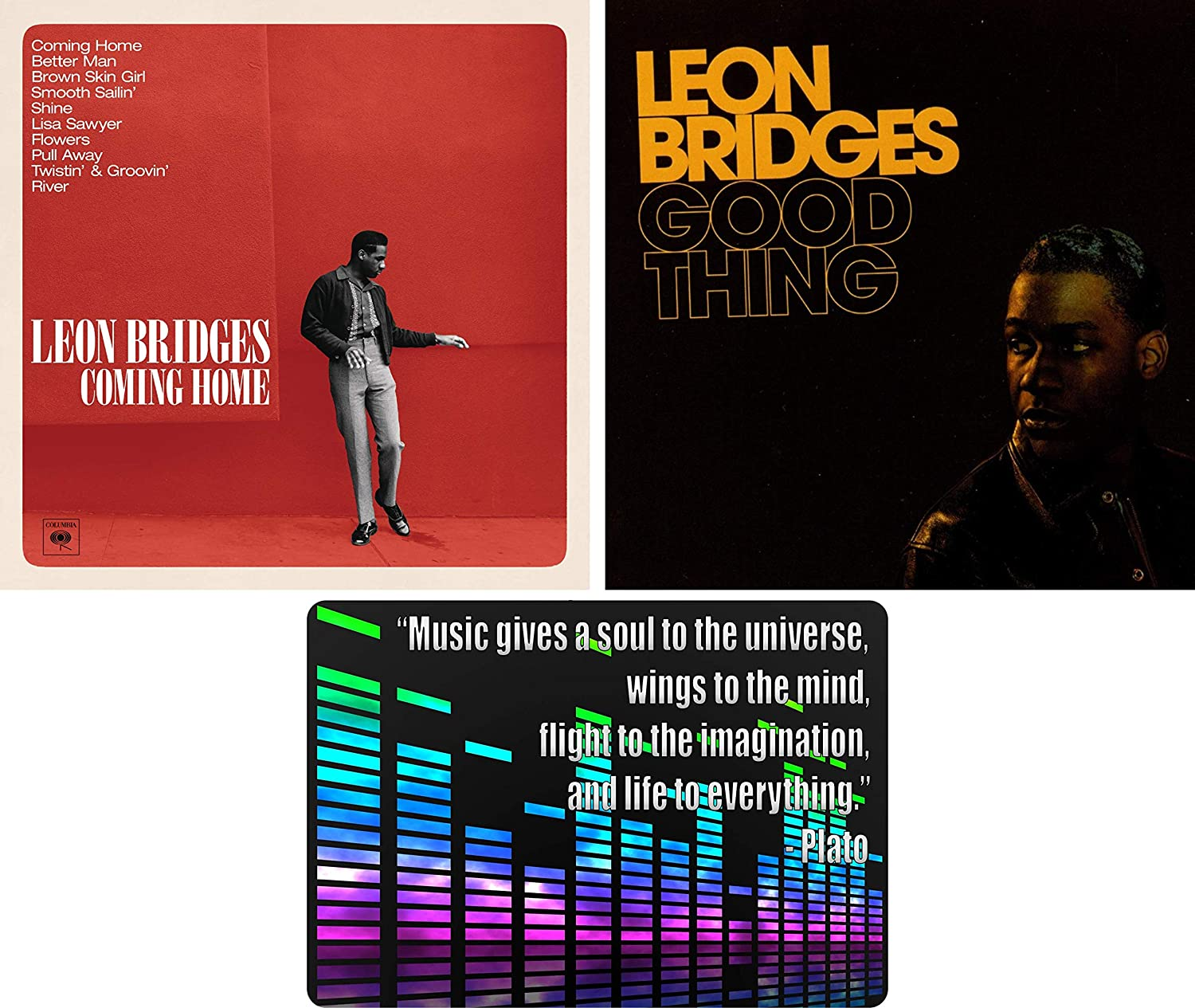 Leon Bridges: Complete Studio Albums Discography CD Collection with Bonus Art Card (Coming Home / Good Thing)