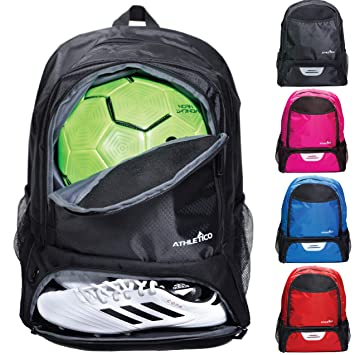Amazon.com: Athletico Youth Soccer Bag – Mochila de fútbol y ...