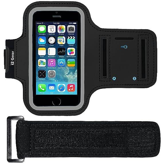 pretty nice ecc70 2f387 Amazon.com: i2 Gear Armband Case for Apple iPhone 5/5S/5C SE - Black ...