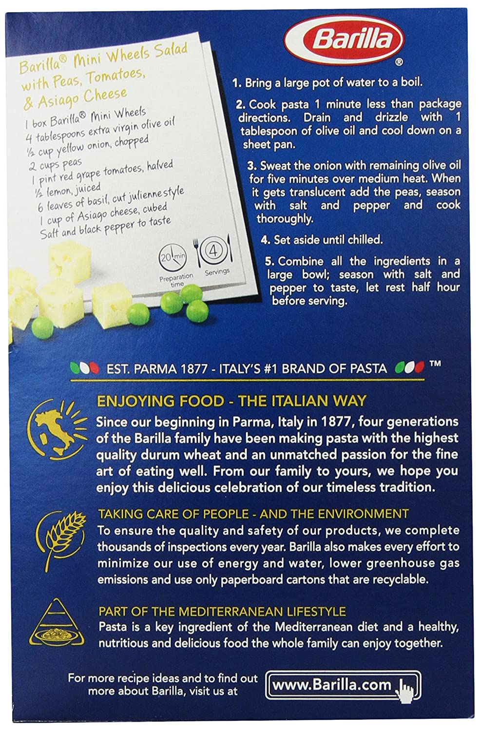 barilla spa case channels of distribution barilla divided its  com barilla pasta mini wheels ounce prime pantry