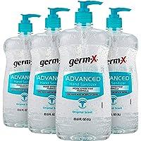 Germ-X Advanced Hand Sanitizer, Original, Pump Bottle, 33.8 Fluid Ounce (Pack of 4)