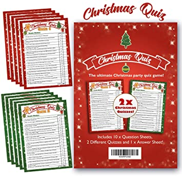 photo regarding Printable Christmas Trivia Games named Bigmouth Xmas Quiz Video game - Greatest Christmas Occasion Trivia Quiz Fastened - 2 x Quizzes for Relatives Good friends