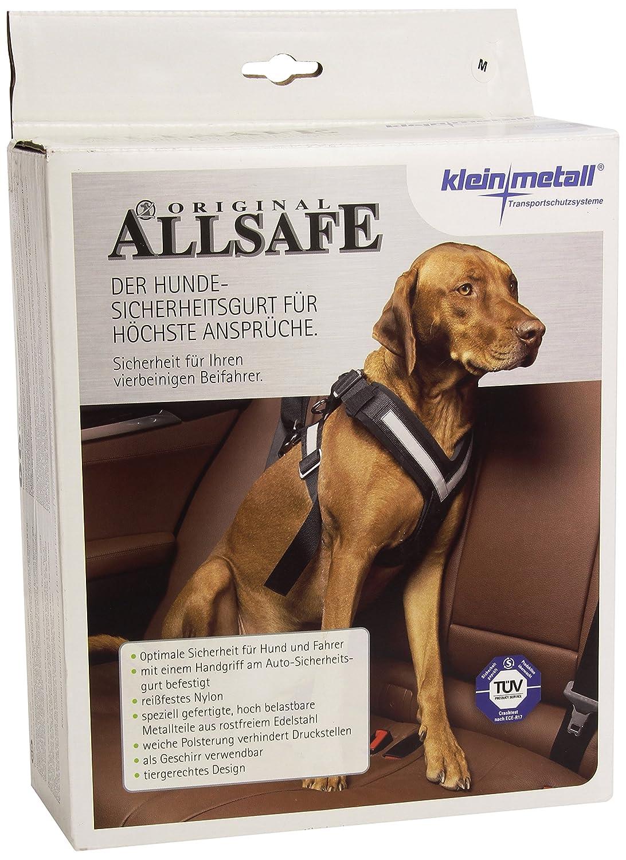 KLEINMETALL Allsafe Gürtel der Sicherheit für Hunde, Schwarz Image
