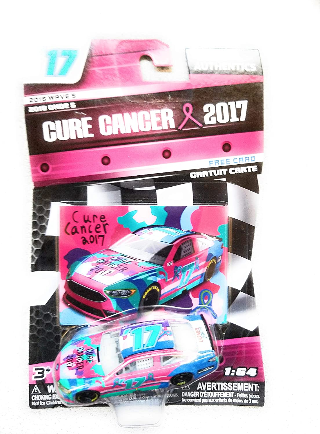 Collectible NASCAR Authentics Cure Cancer 2017 Diecast Car 1//64 Scale 2018 Wave 5 Free Card