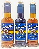 Torani Sugar Free 375ml (3 pack): Caramel, Chocolate, and S'mores
