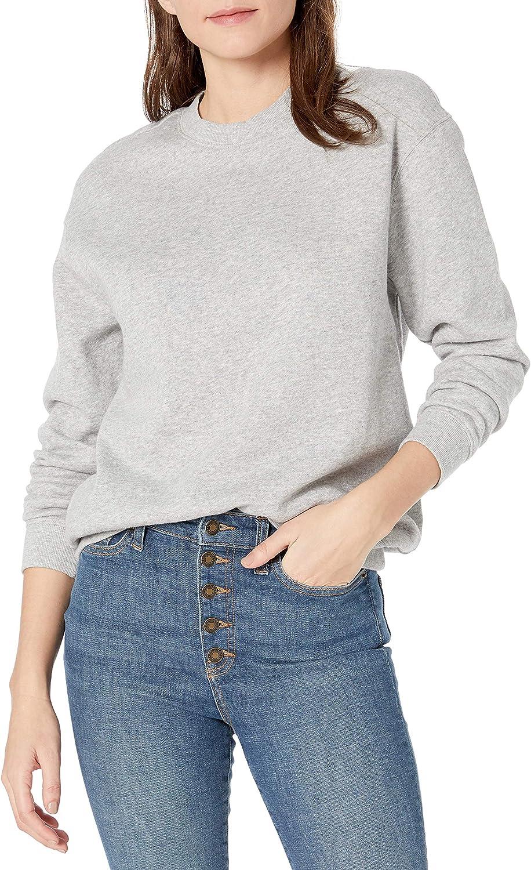 Brand Goodthreads Womens Heritage Fleece Beefy Crewneck Sweatshirt