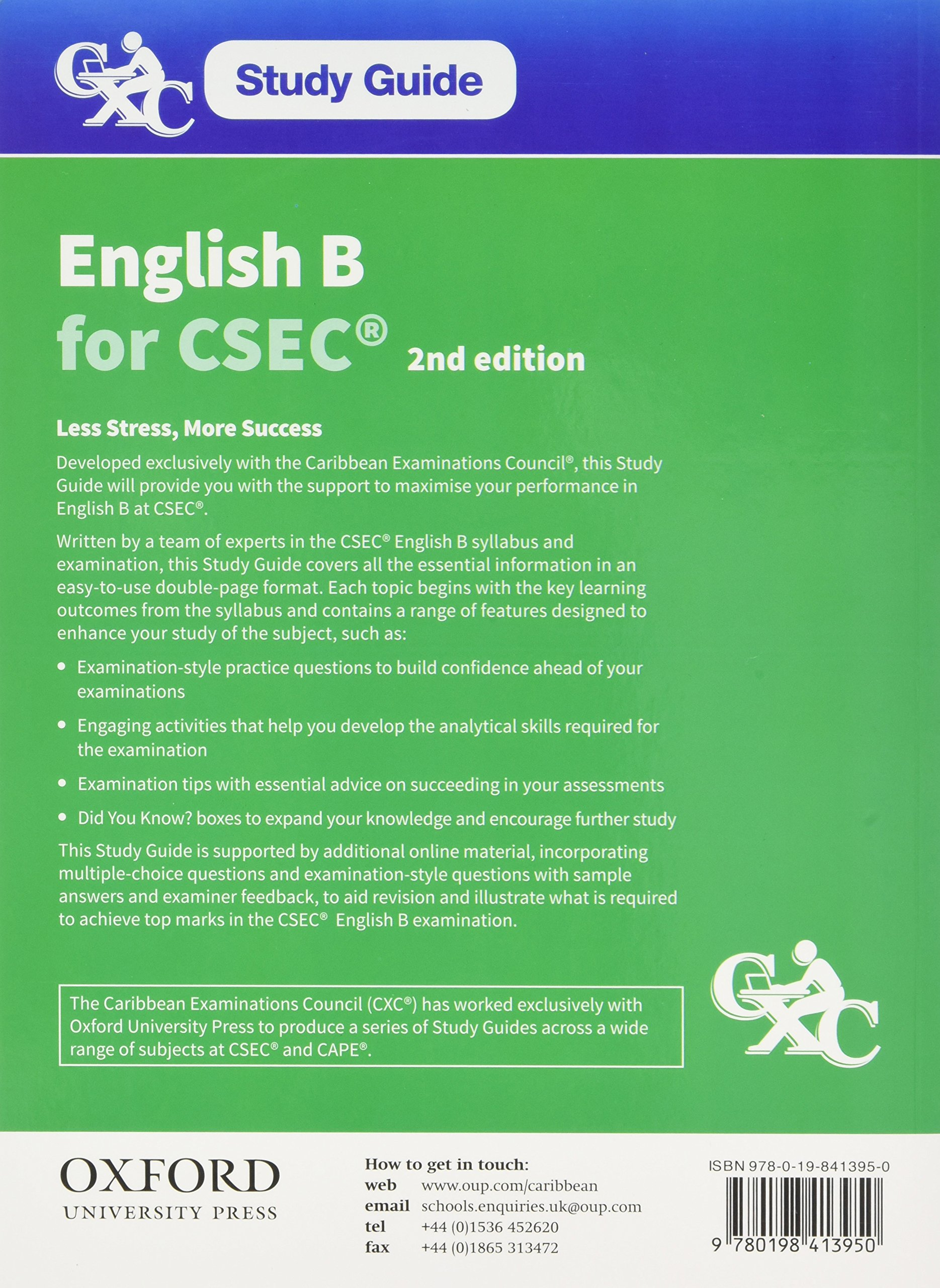 cxc study guide english b for csec arlene dwarika joyce e jonas rh amazon com 11th Grade English Study Guide English Grammar Study Guide