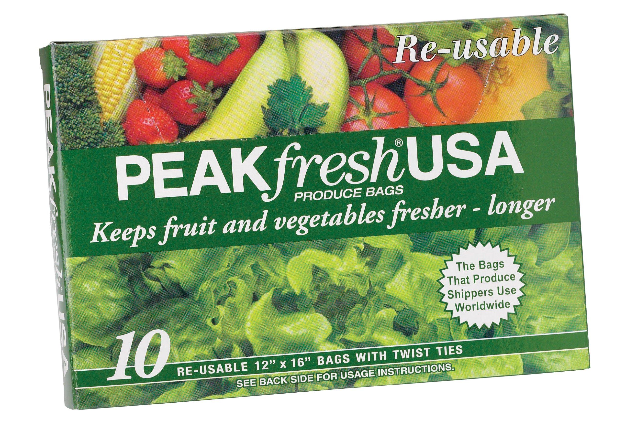 Amazon Com Reusable Green Fresh Bags 15 Quot X 9 8 Quot Prolong