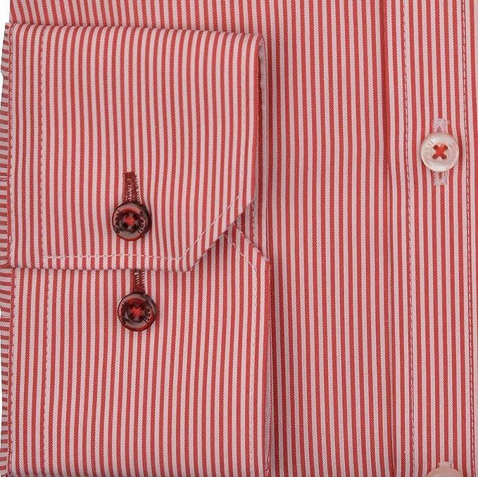 Venti - Camisa casual - Clásico - para hombre rojo 39: Amazon.es ...