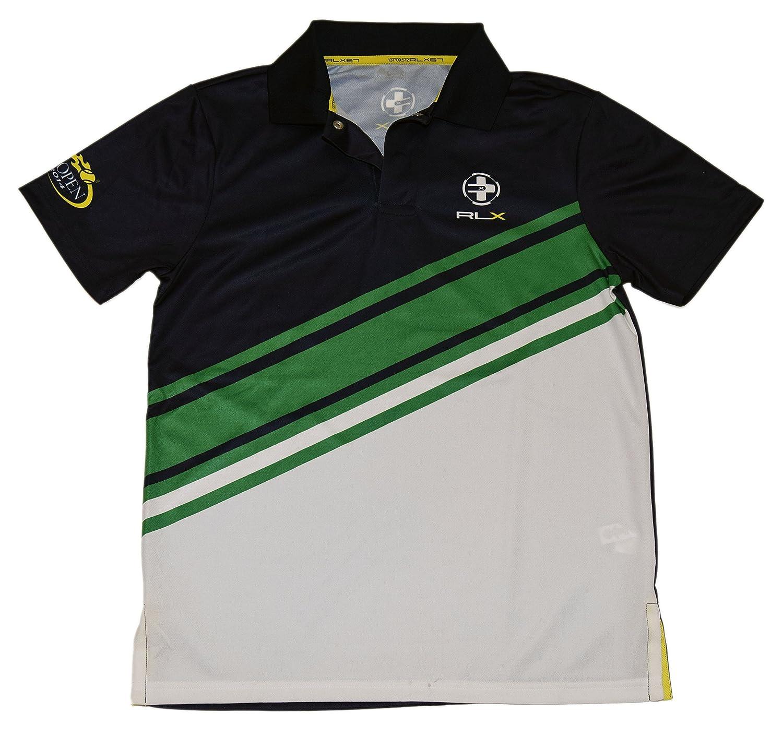 Polo Ralph Lauren Rlx Mens Us Open Polyester Shirt Navy Green White