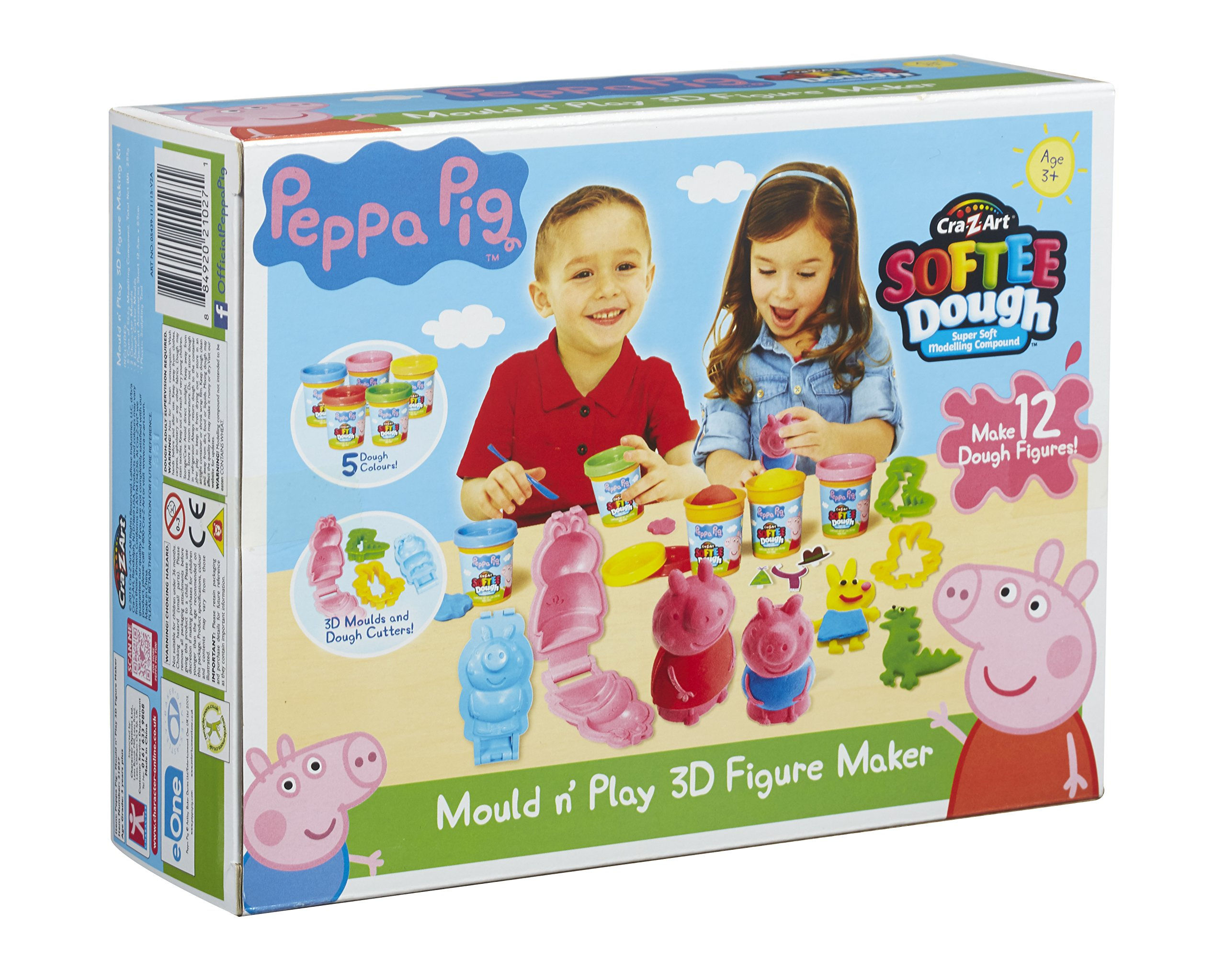 Peppa Pig Dough Mould And Play 3d Figure Maker Multi