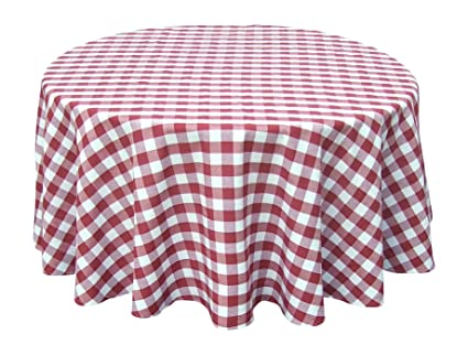 Wine Red White Tablecloths: Gingham Checkered Design (54u0026quot; X 72u0026quot;  ...