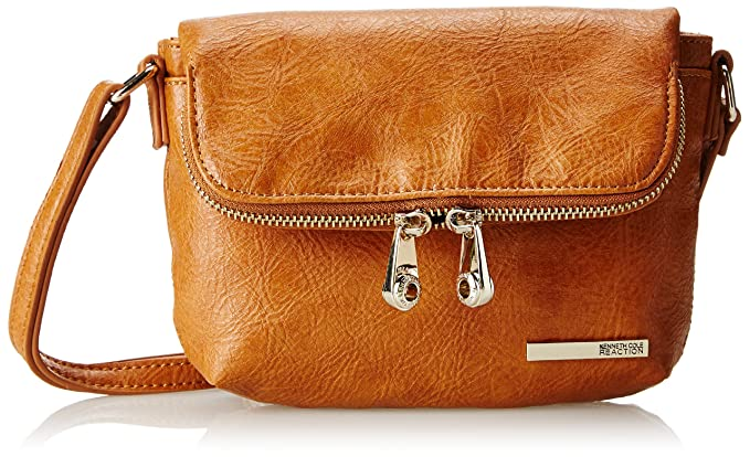Kenneth Cole Reaction Kenneth Cole Reaction Wooster Street Flap Crossbody Cross Body, Saddle, One Size