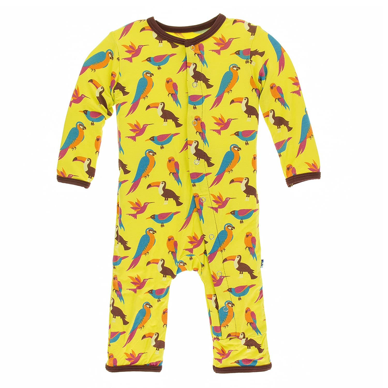KicKee Pants Girls' Print Fitted Coverall Prd-kpca213-gdesy
