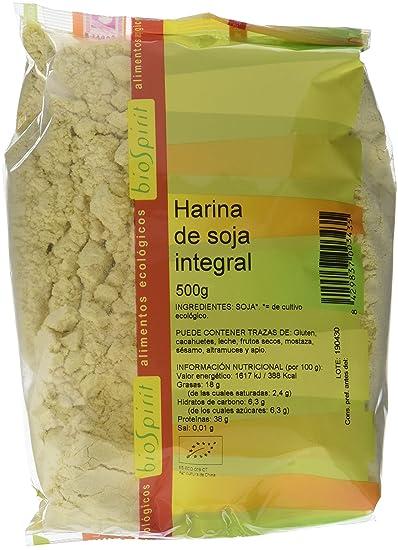 Biospirit Harina de Soja Integral de Cultivo Ecológico - 500 gr