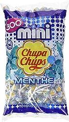 Chupa Chups Sachet de 300 Mini Sucettes Menthe 1,8 kg