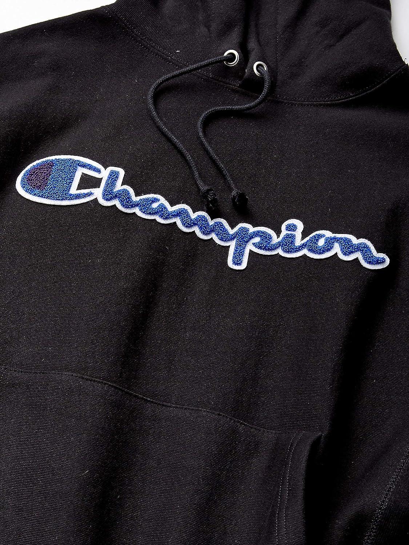 Champion LIFE Men's Reverse Weave Pullover Hoodie, Black, Medium: Clothing