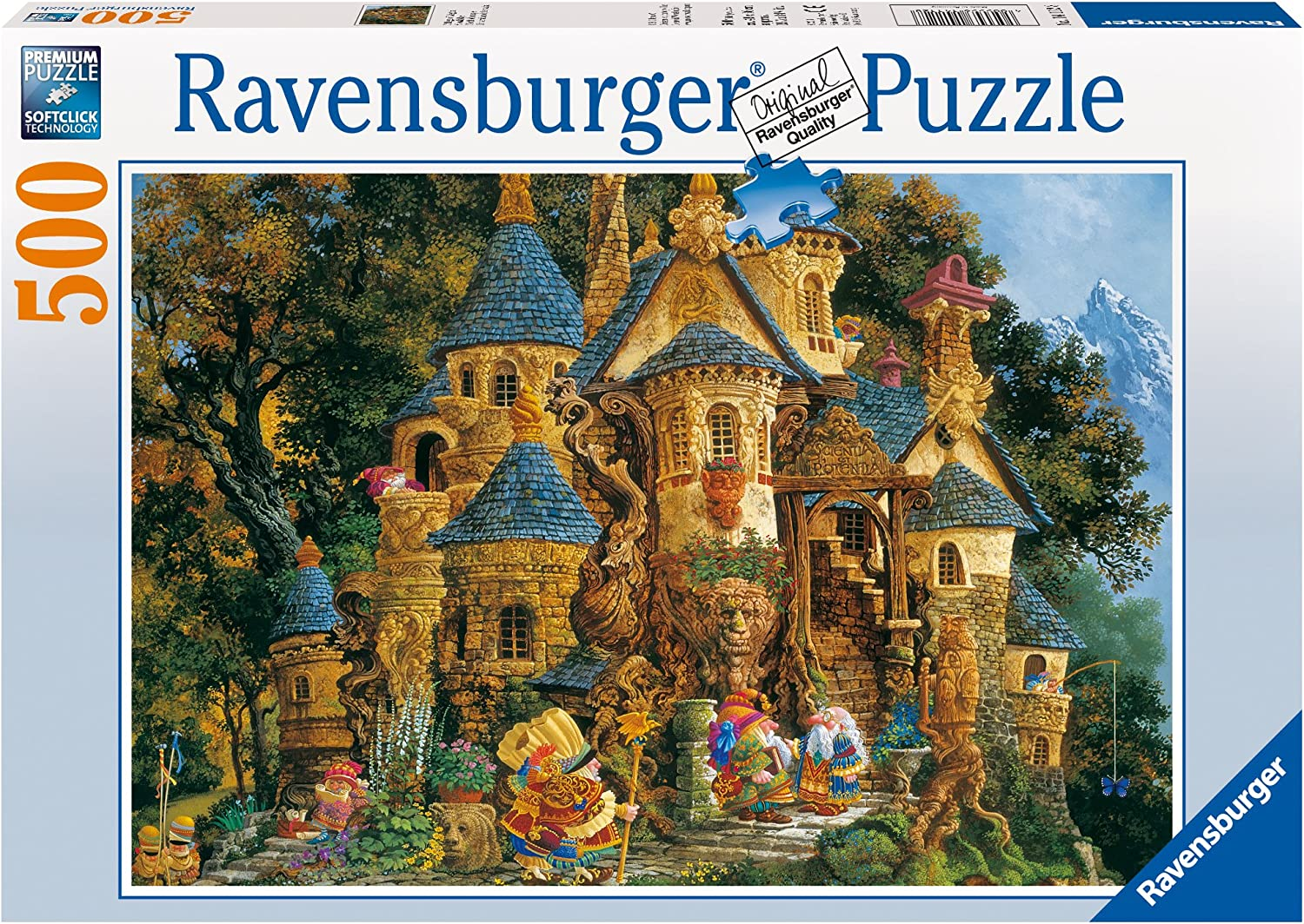 Ravensburger College of Magical Knowledge - 500 Piece Jigsaw Puzzle for Adults – Every Piece is Unique, Softclick Technology Means Pieces Fit Together Perfectly