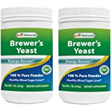 Best Naturals 100% Pure Brewers Yeast Powder - 16 oz (Pack of 2) - Supports For Increased Breast Milk Supply During Breastfeeding, Lactation, digestive health