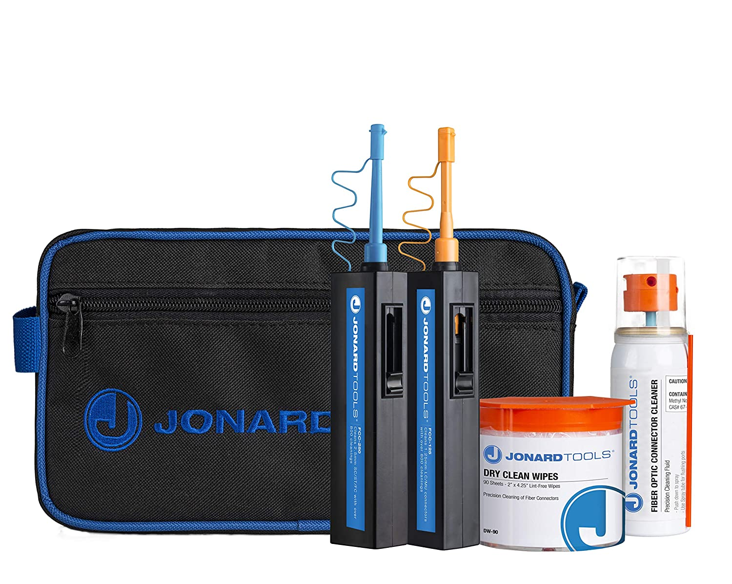 Image of Jonard Tools TK-182 Fiber Optic Connector Cleaning Kit Cleaning Kits