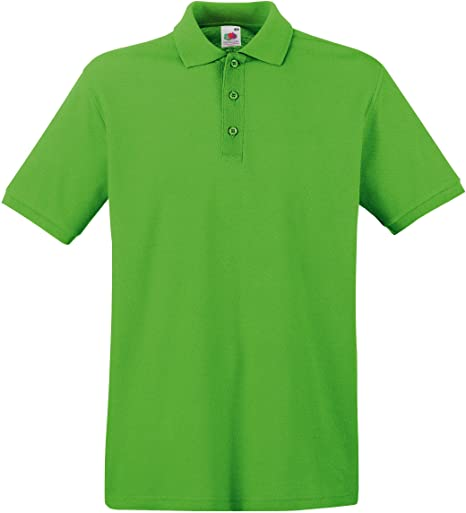 Fruit of the Loom - Polo para Hombre ss035 m, Hombre, Lima, Medium ...