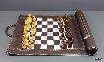 StonKraft Juego de ajedrez de Cuero 19