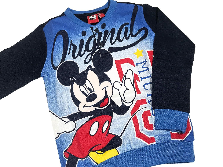 ARNETTA Pigiama Bambino Topolino Invernale Felpato allInterno Disney Mickey Mouse con Polsini 3//7 Anni 46673